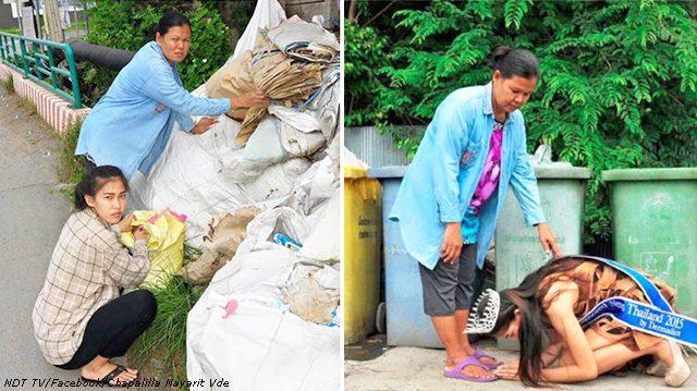 Королева красоты на людях упала на колени перед сборщицей мусора. Вот почему