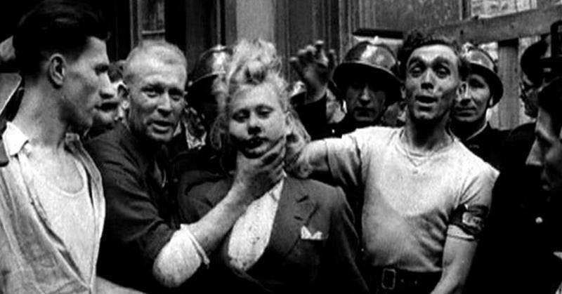 С народом шутки плохи! Вот как наказывали женщин, имевших отношения с нацистами...