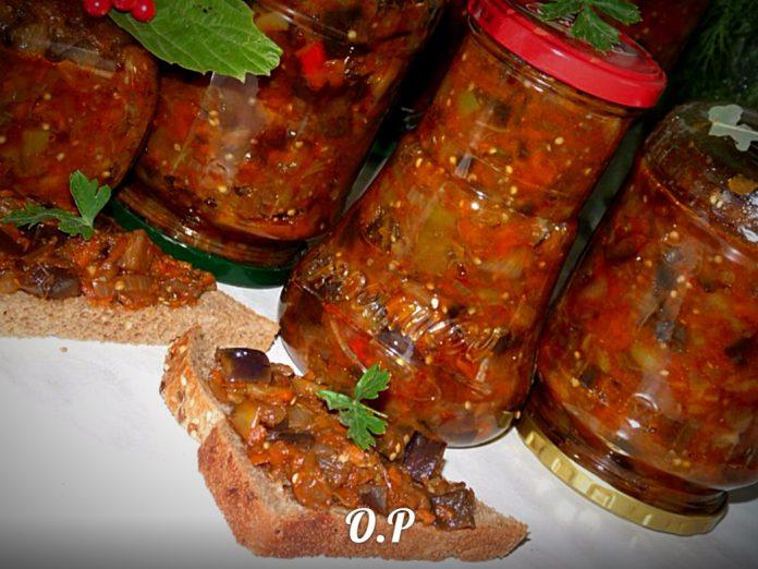 Очень вкусный салатик с баклажанами без уксуса (напоминает кабачки с грибами)