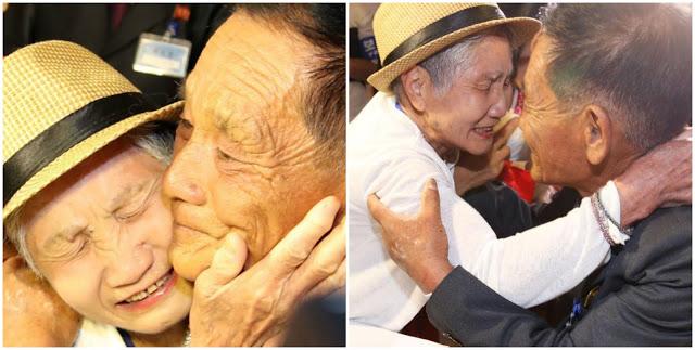 Слезы счастья: семья из Южной и Северной Кореи впервые за 68 лет встретилась