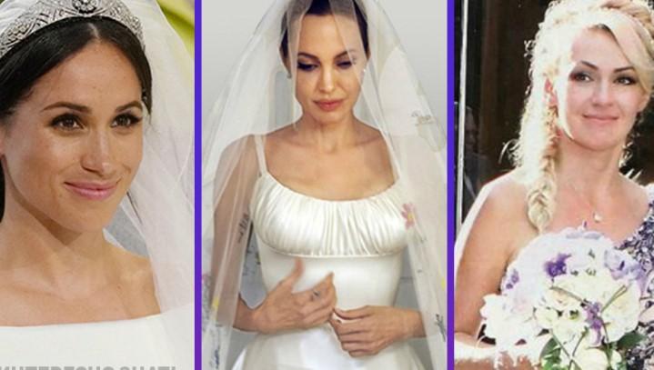 10 самых необычных и обсуждаемых свадебных платьев знаменитостей