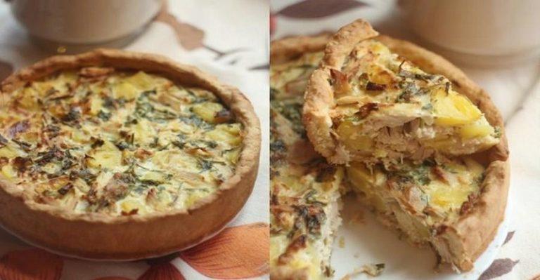 Пирог с курицей и картофелем на все случаи жизни!