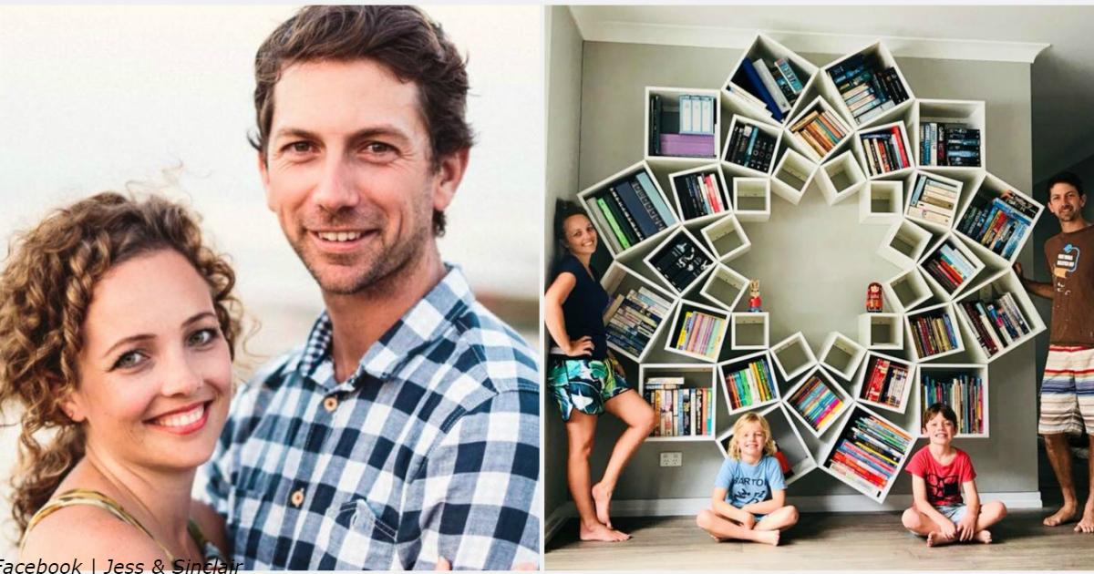 Эти двое не нашли книжный шкаф в магазине - поэтому построили его сами!