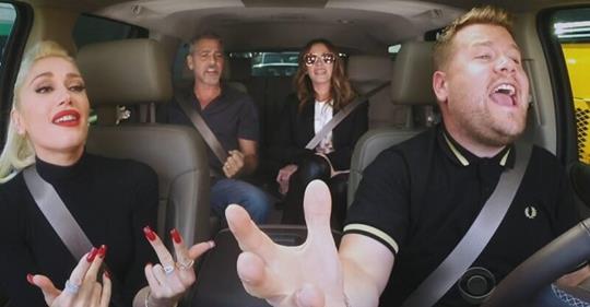 Это нужно видеть! Джордж Клуни, Джулия Робертс и Гвен Стефани вместе поют в машине