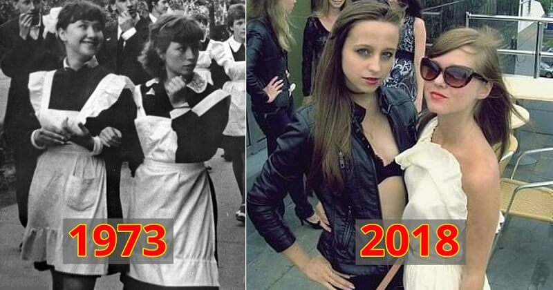 15 фото о том, как изменились платья выпускниц за последние 40 лет