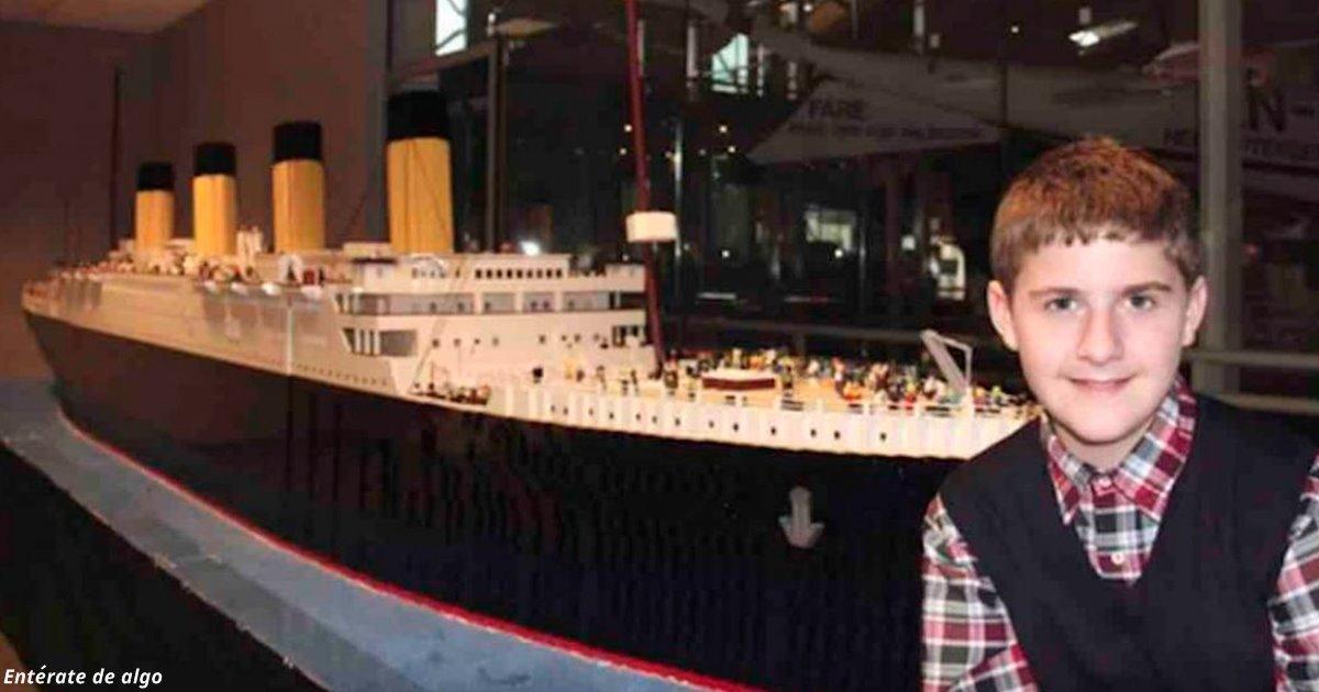 Ребёнок аутист построил из LEGO точную копию «Титаника»!