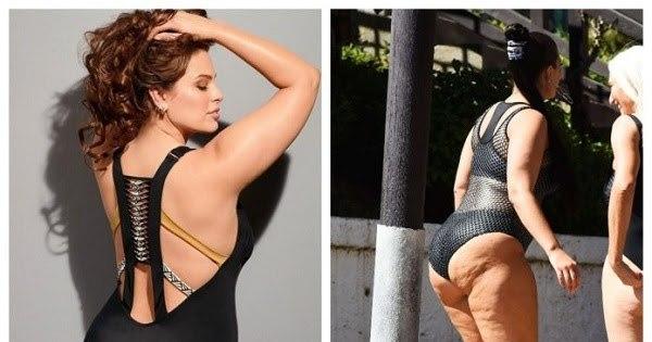 7 фото, как в реальности выглядят тела plus-size моделей: красота требует фотошопа
