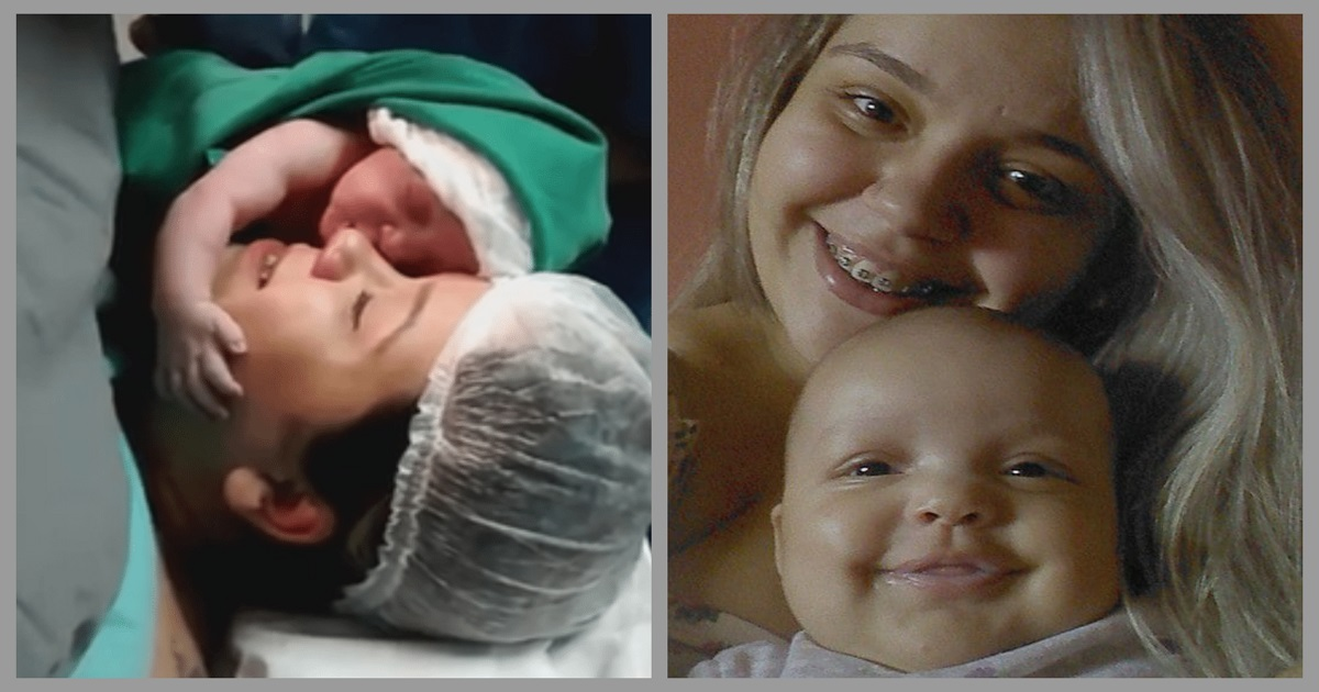 Мама впервые держит новорожденного — и он отказывается ее отпускать