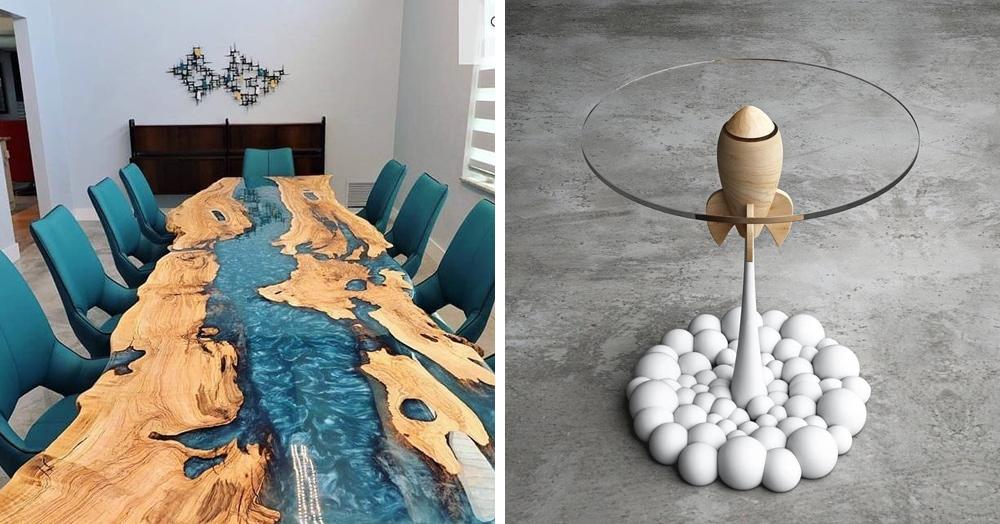 11 необычных столов, которые заставят вас взглянуть на этот повседневный предмет мебели по-новому