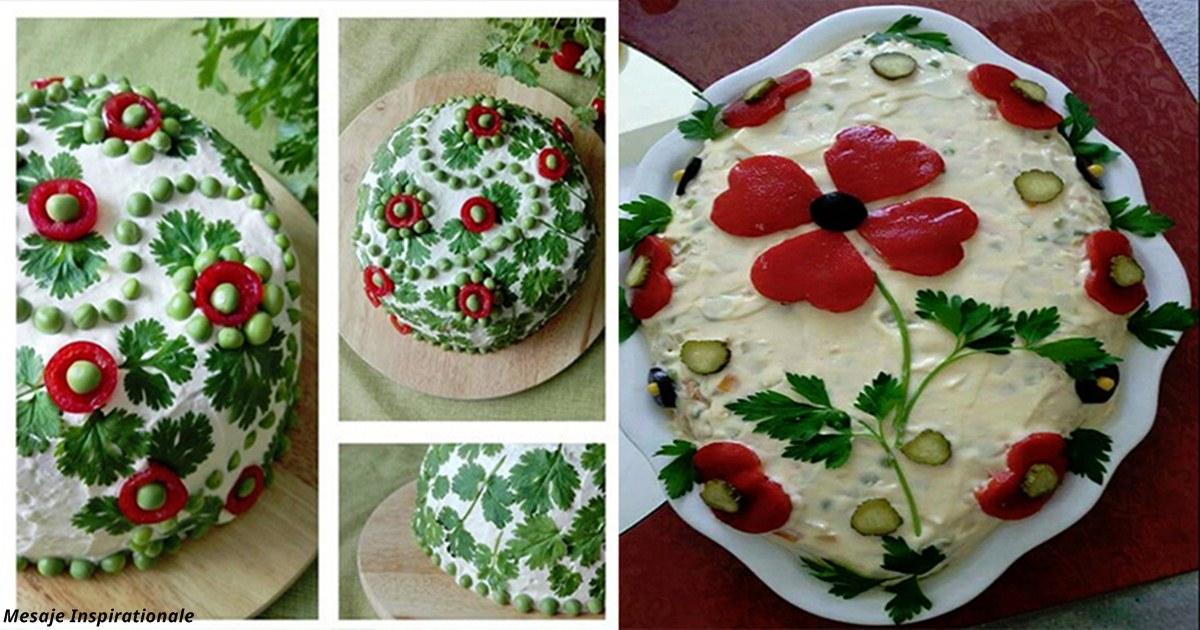 10 вдохновляющих идей о том, как украсить классический салат Оливье