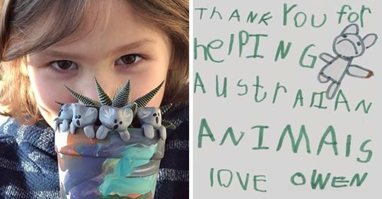 6-летний мальчик очень хотел помочь Австралии. Он стал лепить глиняных коал и собрал более 176 тыс. долларов
