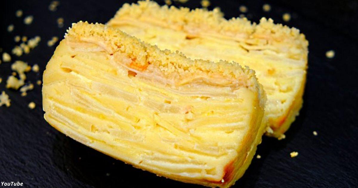 Яблочно-грушевый пирог, где даже тесто — как крем