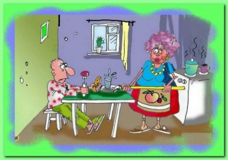 Риторический анекдот: Ужин при свечах одной семейной пары, для жены закончился на нарах