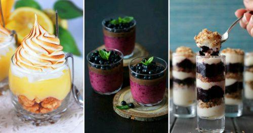 Как красиво оформить десерты в стаканах
