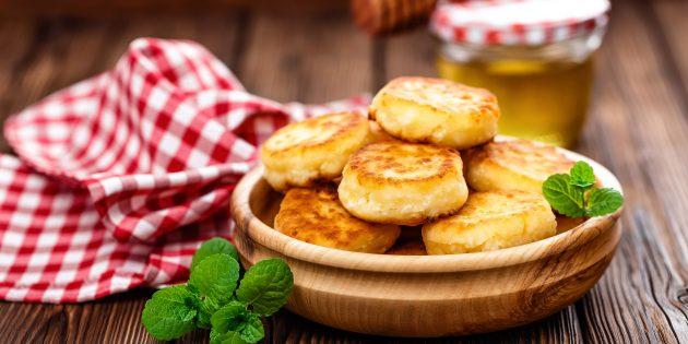 Рецепт сырников «Минутка» без муки и яиц