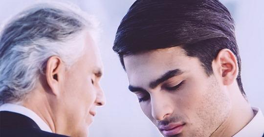Андреа Бочелли с сыном — трогательный дуэт