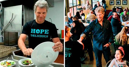 Знаменитый певец Джон Бон Джови открыл сеть ресторанов для нуждающихся