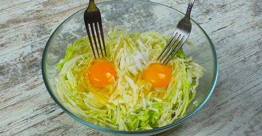 Капуста + 2 яйца и вкусный ужин готов