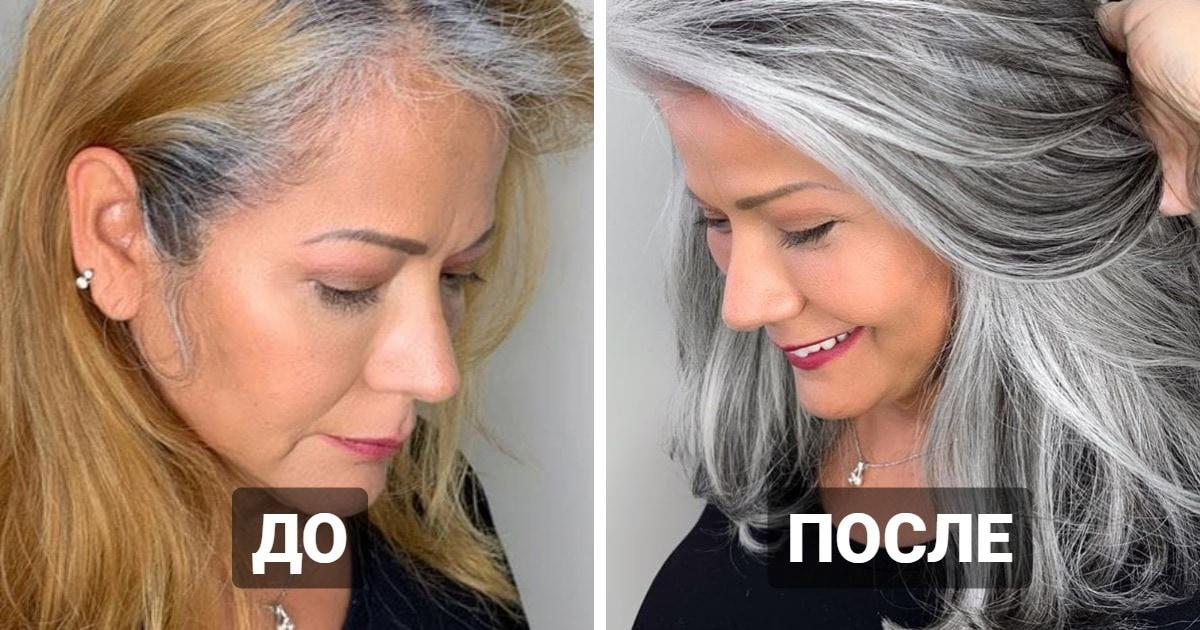 16 работ от парикмахера из Калифорнии, который не прячет седину клиенток, а наоборот — заставляет ей гордиться