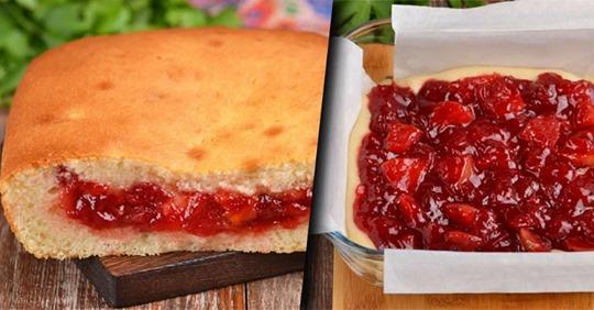Пирог с вареньем: простой и вкусный рецепт заливного пирога