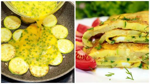 Беру 1 кабачок, 3 яйца и вкусный завтрак готов. Так кабачки я ещё не готовила!