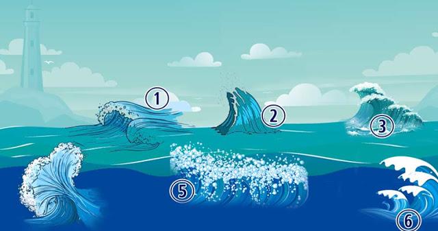 Психологический тест: выберите морскую волну!