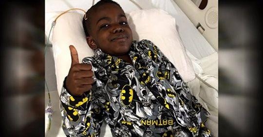 8-летний мальчик празднует победу над раком мозга 4 стадии — давайте отправим ему всю нашу любовь и поддержку