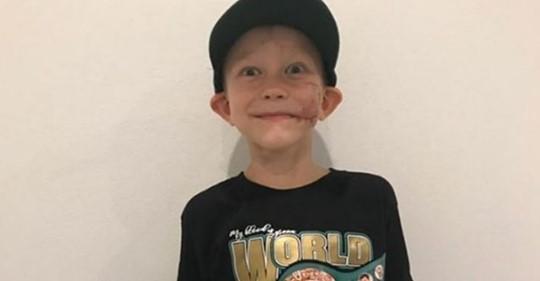 6-летний мальчик, который спас сестру от разъяренного пса, стал обладателем чемпионского пояса WBC