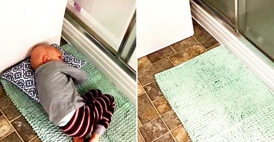 Она была в душе, малыш лёг на коврик и прошептал: «Мам, я устал бороться… я хочу на Небеса…»