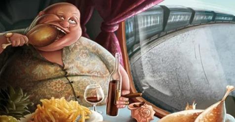 Анекдот. Едут в купе поезда русский и австралиец. Русский проголодался и начал доставать из сумки еду…