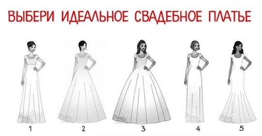 Хочешь узнать, какая ты женщина? Просто выбери идеальное свадебное платье!