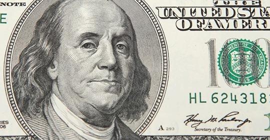 Бенджамин Франклин, изображенный на 100$ президентом США никогда не был
