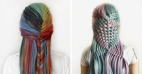 Немецкая 17-летняя парикмахер-самоучка показала свои работы, в которых превращает волосы в произведения искусства