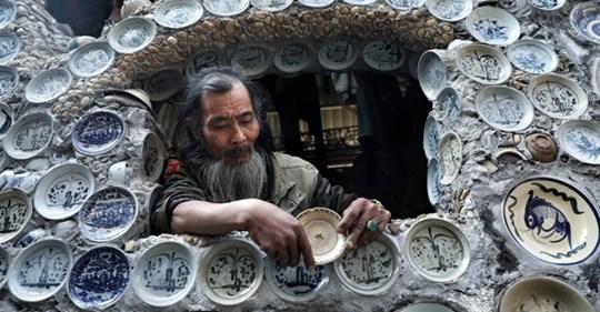 Вьетнамец решил украсить дом и полностью отделал его… тарелками