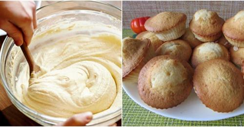 Стакан кефира, 1 яйцо, стакан манки и самые вкусные кексы готовы