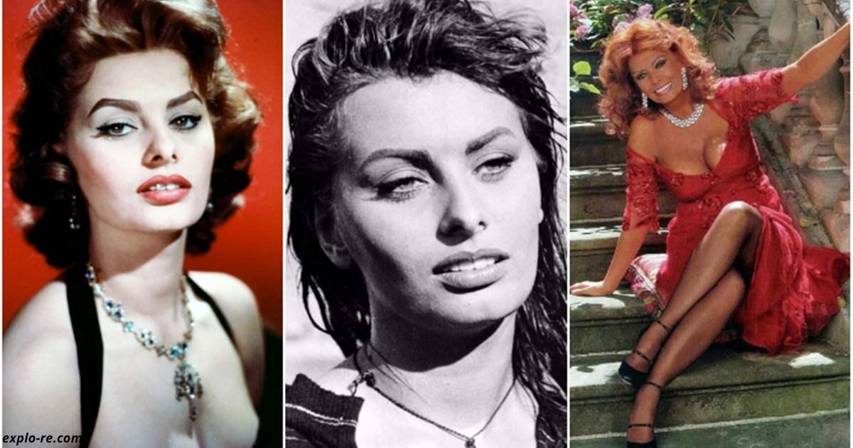 Совсем другое лицо: как выглядела первая красавица мирового кино Софи Лорен до пластики