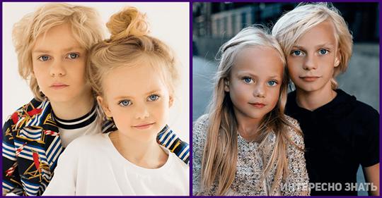 Как выглядит мама самых красивых детей в мире, от которой они получили такую внешность