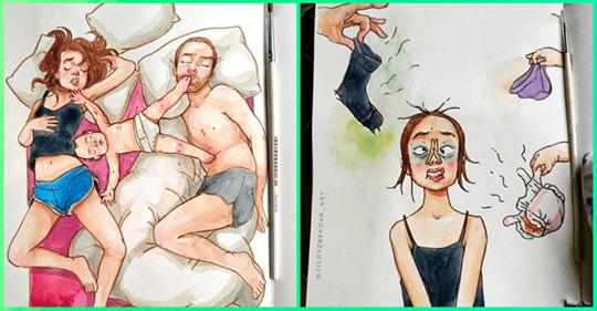 10 самых честных комиксов о том, каково быть матерью двоих детей