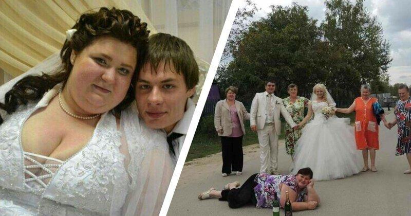 Ну и колхоз! Невесты, которые явно прогадали с платьем и фото на свадьбе