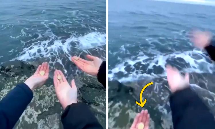 Девушки хотели бросить монеты в океан, чтобы вернуться, но что-то пошло не так