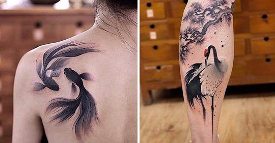 Акварельные тату умопомрачительной красоты, которые придутся по вкусу каждому