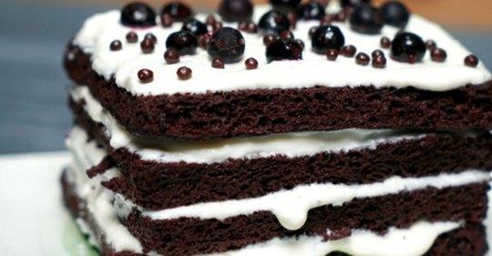 Торт без муки, который готовится за 4 минуты