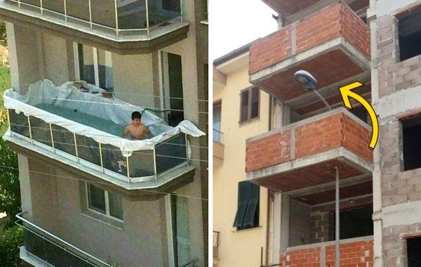 15 настолько своеобразных балконов, что их владельцам так и хочется задать парочку вопросов