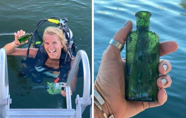Женщина случайно нашла в озере бутылку со старинной запиской, в которой была не совсем обычная просьба