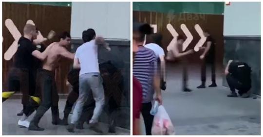 В Москве толпа мигрантов избила охранников торгового центра