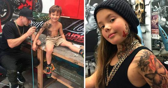 Художник делает татуировки больным детям, чтобы развеселить их и придать уверенности (12 фото)