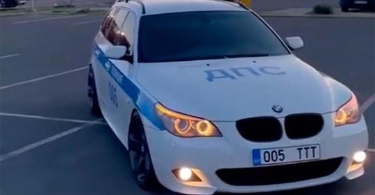 На девушку из Эстонии завели уголовное дело за то, что она оклеила свой BMW в цвета российской ДПС (1 фото + 1 видео)
