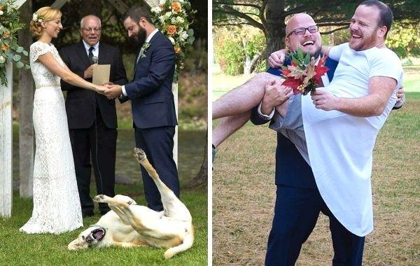 15 забавных моментов со свадеб, сделавших этот день еще более особенными