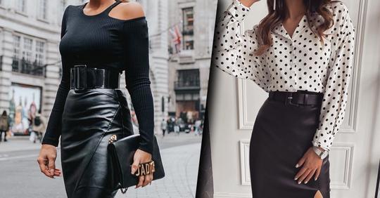 Модные юбки 2021: 20 шикарных юбок с высокой линией талии