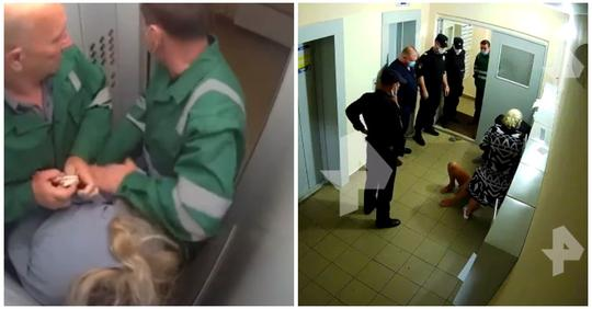 На избивших женщину в лифте санитаров завели уголовное дело